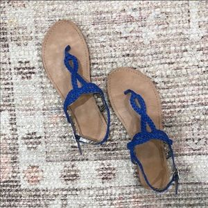 Royal Blue Braided Sandals